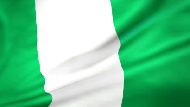 Flag of Nigeria Loopable video