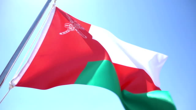 bandiera dell'oman - oman video stock e b–roll