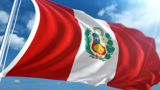 Bandera del Perú   Loopable - vídeo