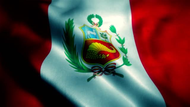 Bandera del Perú, bandera peruana - vídeo