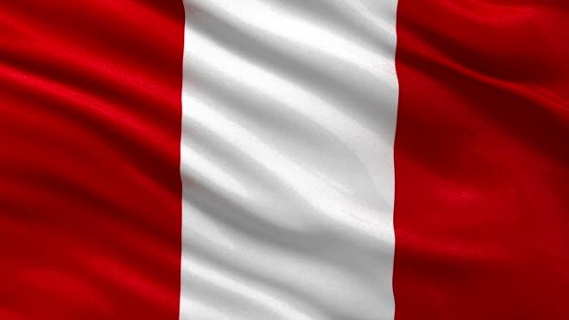 Bandera de Perú-seamless loop - vídeo