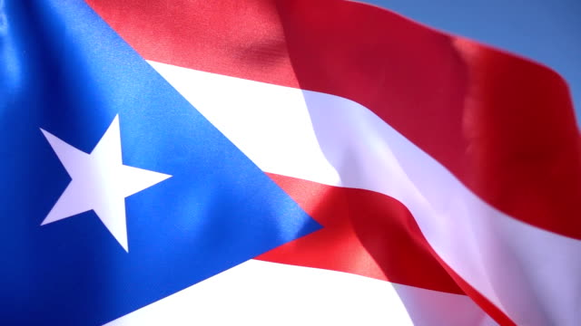 Flag of Puerto Rico 1080p, Slowmotion,Close up puerto rico stock videos & royalty-free footage