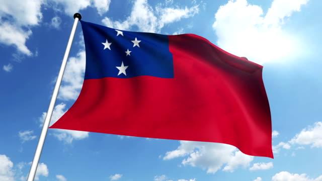 flag of samoa (loop) - kanvas bildbanksvideor och videomaterial från bakom kulisserna