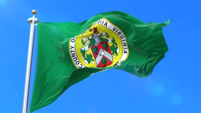 Flag of San Spotsylvania county, state of Virginia in United States - loop video