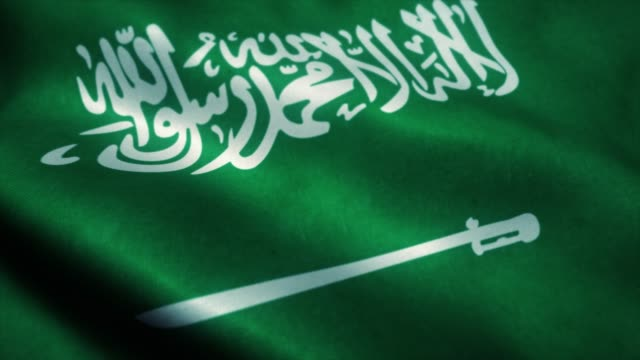 사우디 아라비아의 국기 - 바람에 진화 사우디 아라비아 의 왕국의 4k 고해상도 플래그 - saudi national day 스톡 비디오 및 b-롤 화면