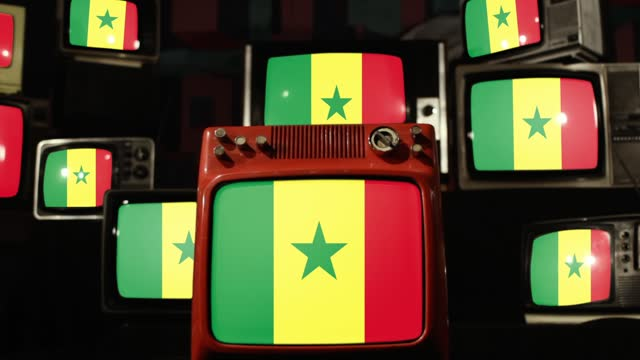 Flag of Senegal and Retro Televisions. Flag of Senegal and Retro Televisions. Zoom In. Full HD. senegal stock videos & royalty-free footage