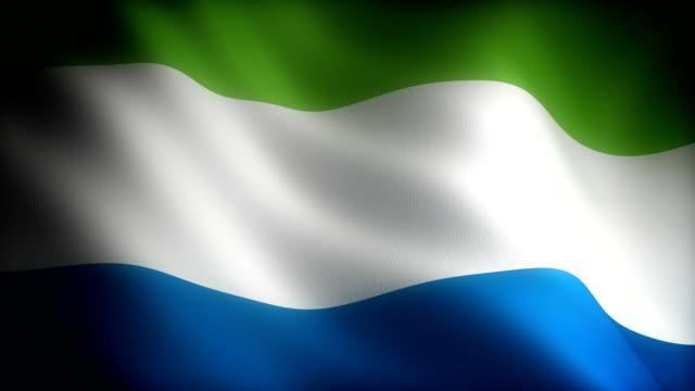 flag of sierra leone - sierra leone video stock e b–roll