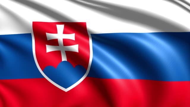 flagge der slowakei (endlosschleife) - slowakei stock-videos und b-roll-filmmaterial