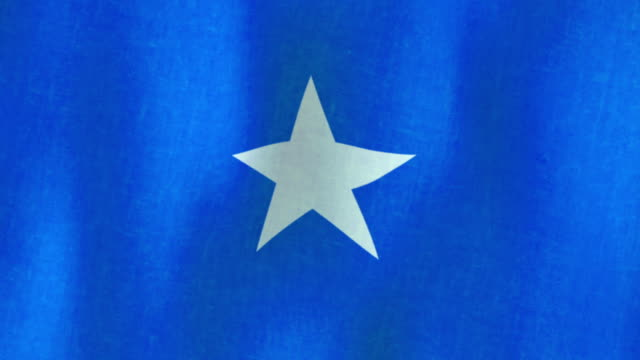 Flag of Somalia, Africa. Fabric, Loopable (Seamless), HD This is a Flag of Somalia Loopable Video. With this one you can easily make a video of any length.  horn of africa stock videos & royalty-free footage