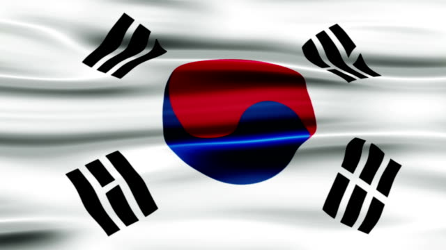 flag of south korea - saffron on white bildbanksvideor och videomaterial från bakom kulisserna