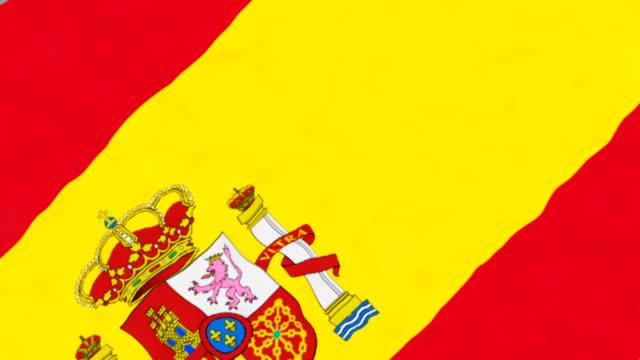 vídeos de stock, filmes e b-roll de bandeira da espanha - futebol internacional