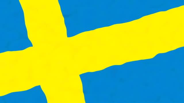 vídeos de stock, filmes e b-roll de bandeira da suécia - futebol internacional