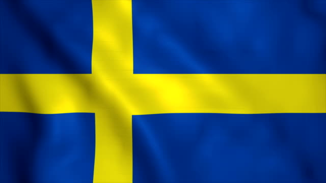 flag of sweden - bandiera nazionale video stock e b–roll