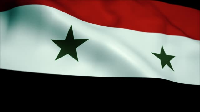 Flag of Syria. Seamless Loop. 4K High Definition animation. Flag of Syria. Seamless Loop. damascus stock videos & royalty-free footage