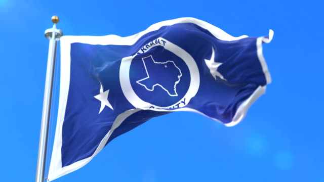 Flag of Tarrant county, state of Texas, in United States - loop video