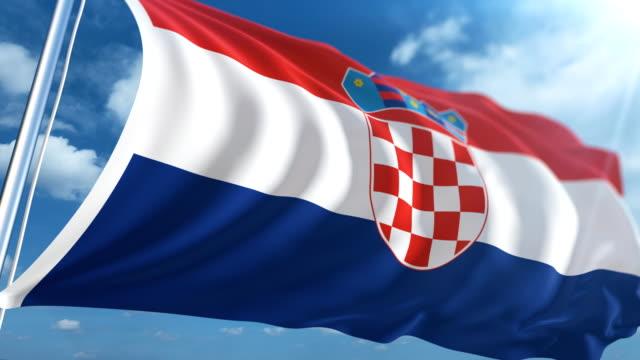 flag of the croatia | loopable - хорватия стоковые видео и кадры b-roll