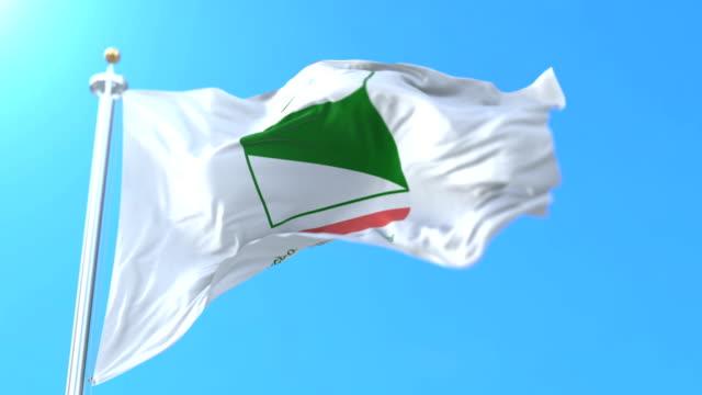 emilia-romagna, i̇talya i̇talyan bölge bayrağı. döngü - ravenna stok videoları ve detay görüntü çekimi
