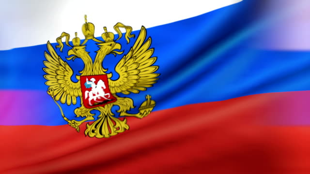 Flag of the President of Russia Loopable Flag of the President of Russia, Russian presidential flag russian culture stock videos & royalty-free footage