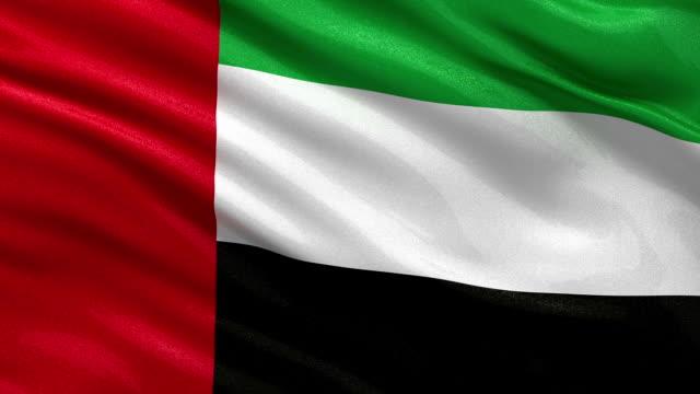 flaga zjednoczonych emiratów arabskich, bezszwowe pętli - uae flag filmów i materiałów b-roll