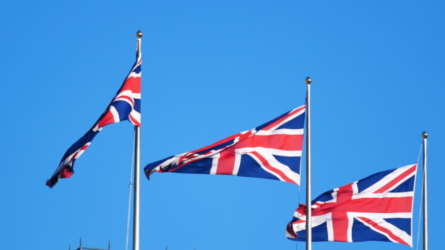 4K Flag of the United Kingdom, England video