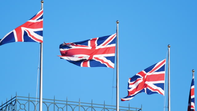4K Flag of the United Kingdom, England video