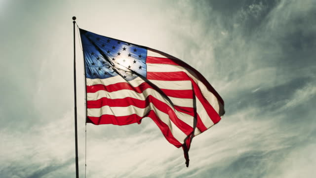 flag of the united states of america - american flag stock videos & royalty-free footage