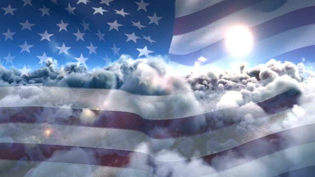 flag of the united states waving against sky and clouds 4k - independence day stock videos & royalty-free footage
