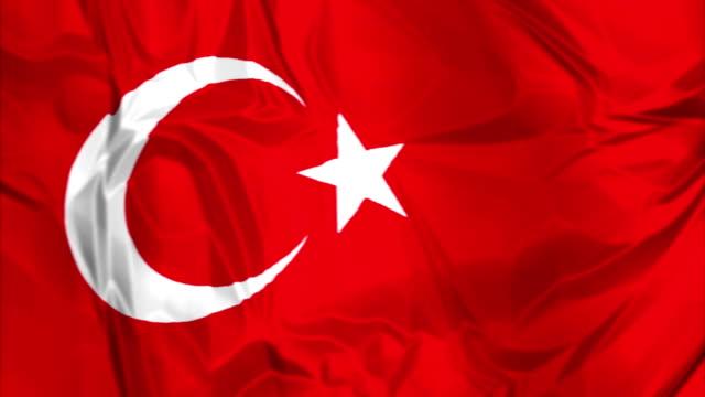 Flag of Tuekey waving video