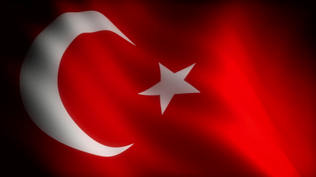 Flag of Turkey (seamless) video