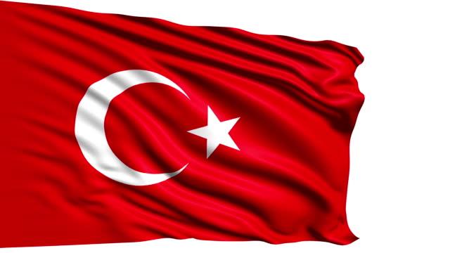 flag of Turkey (loop) video