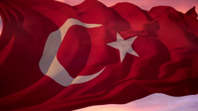 Flag of Turkey video
