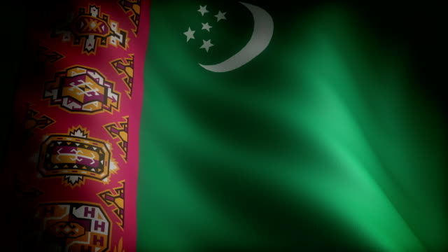 Flag of Turkmenistan Flag of Turkmenistan (seamless) turkmenistan stock videos & royalty-free footage