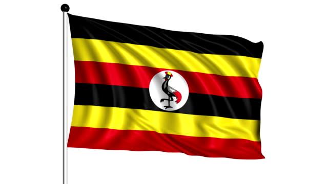 flag of Uganda - loop (+ alpha channel) video