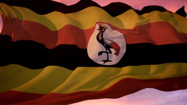 Flag of Uganda video