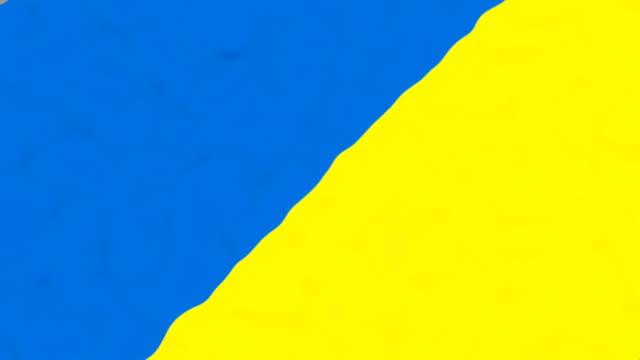 vídeos de stock, filmes e b-roll de bandeira de ucrânia - futebol internacional