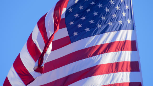 Flag of USA Flag of United States of America. us military stock videos & royalty-free footage