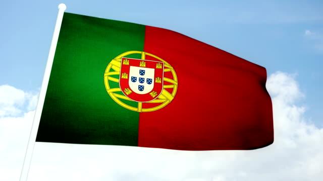 vídeos de stock e filmes b-roll de bandeira de portugal - ronaldo
