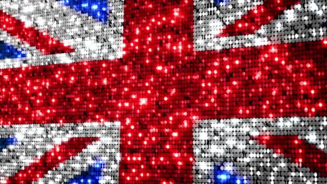 UK flag. Sequins. video