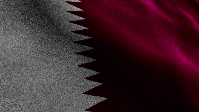 QATAR Flag, Textile Carpet Background, Still Camera, Loop video