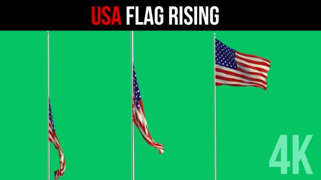 usa flag - asta oggetto creato dall'uomo video stock e b–roll