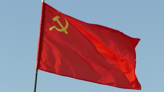 stockvideo's en b-roll-footage met vlag van de ussr - rusland