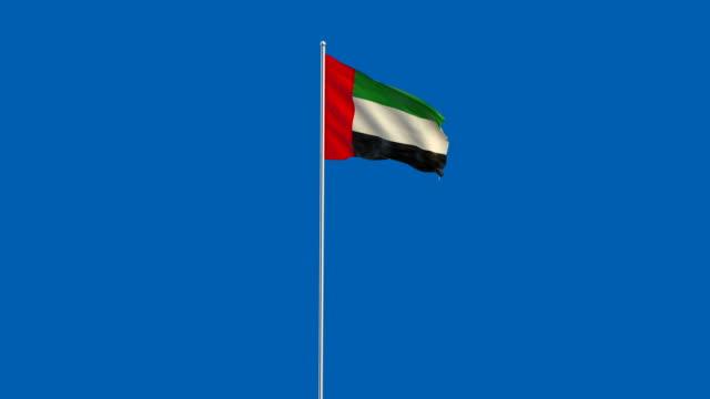 bayrak - uae flag stok videoları ve detay görüntü çekimi