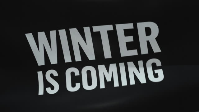WINTER IS COMING Flag Seamless looping flag housing logo stock videos & royalty-free footage