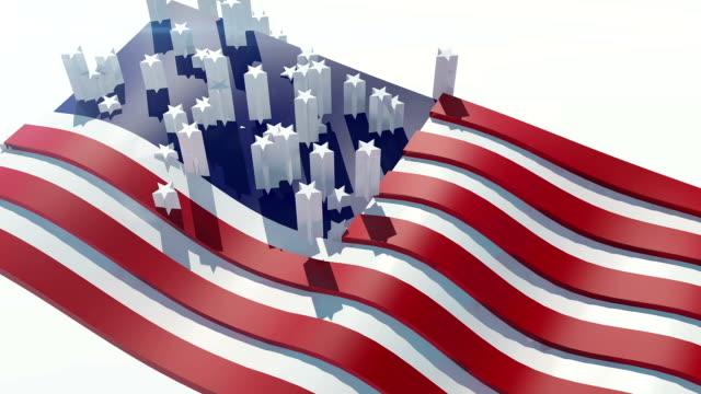 vídeos y material grabado en eventos de stock de bandera de los estados unidos - inauguration