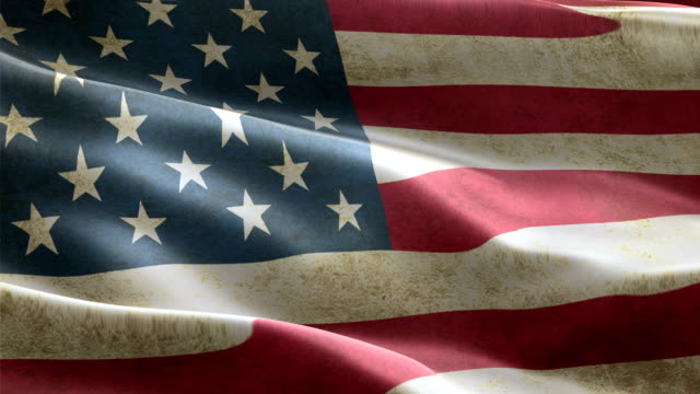 USA flag waving in the wind background animation seamless looping USA flag waving in the wind highly detailed fabric texture perfect background animation shots seamless looping memorial day stock videos & royalty-free footage