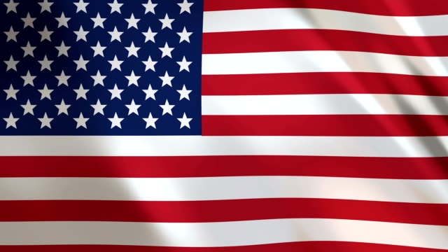 usa flag waving in the wind - fourth of july filmów i materiałów b-roll