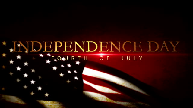 usa flag waving, independence day 4th of july, - 4 luglio video stock e b–roll