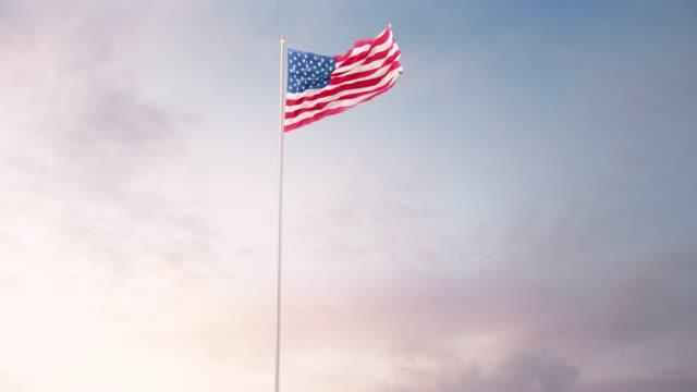 공군과 미국 국기 - us flag 스톡 비디오 및 b-롤 화면