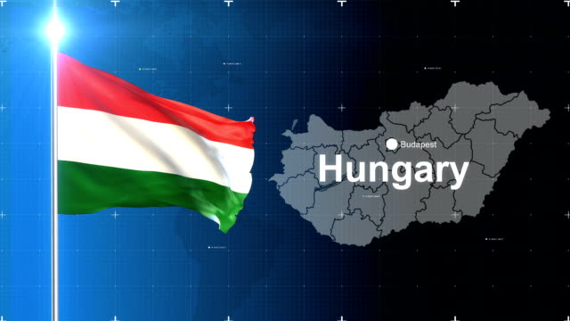 3D Flag with map + Green screen 3d flag waving first 15 sec on the news  background with map , second 15 sec on the greenscreen background . hungary stock videos & royalty-free footage