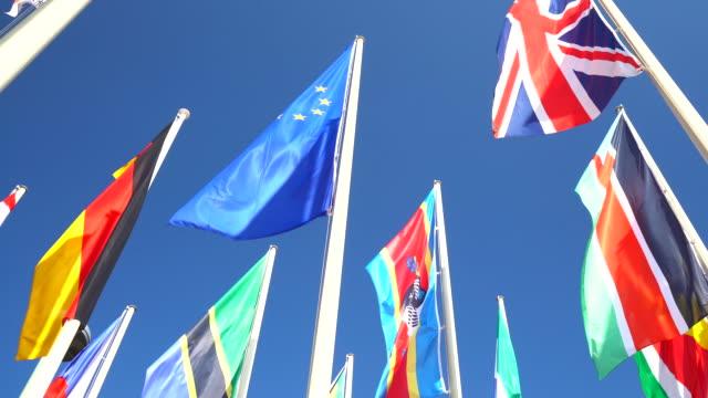 vidéos et rushes de flaggs (flaggs) - europe